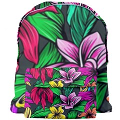 Neon Hibiscus Giant Full Print Backpack