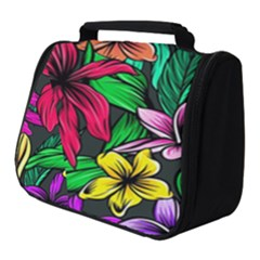 Neon Hibiscus Full Print Travel Pouch (small)