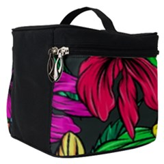 Neon Hibiscus Make Up Travel Bag (small)