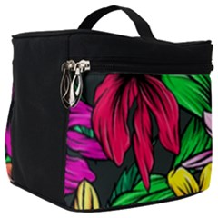 Neon Hibiscus Make Up Travel Bag (big)
