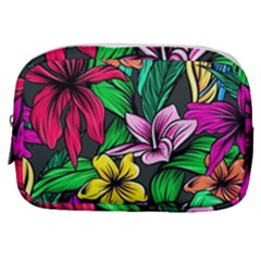 Neon Hibiscus Make Up Pouch (small)