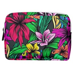Neon Hibiscus Make Up Pouch (medium)