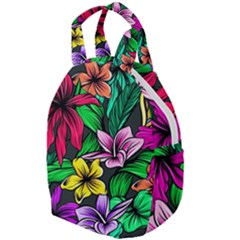 Neon Hibiscus Travel Backpacks