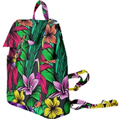 Neon Hibiscus Buckle Everyday Backpack
