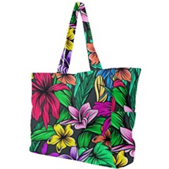 Neon Hibiscus Simple Shoulder Bag