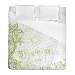Flowers Curlicue Kringel Background Duvet Cover (full/ Double Size)