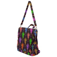 Abstract Background Colorful Leaves Purple Crossbody Backpack by Alisyart