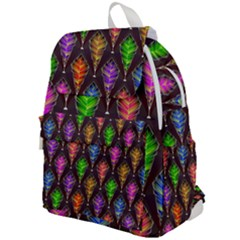 Abstract Background Colorful Leaves Purple Top Flap Backpack by Alisyart
