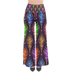 Abstract Background Colorful Leaves Purple So Vintage Palazzo Pants by Alisyart