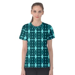 Background Plaid Women s Cotton Tee by AnjaniArt