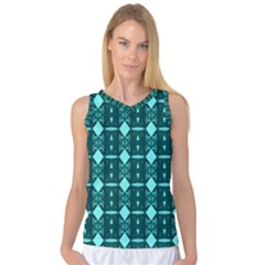 Background Plaid Women s Basketball Tank Top by AnjaniArt