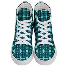 Background Plaid Women s Hi-top Skate Sneakers