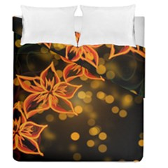 Flowers Background Bokeh Leaf Duvet Cover Double Side (queen Size)