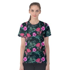 Rose Flamingos Women s Cotton Tee by goljakoff