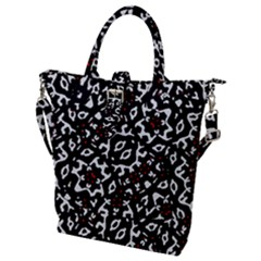 Bold Boho Ethnic Print Buckle Top Tote Bag by dflcprintsclothing