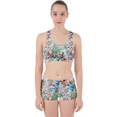 Rose Flamingo Pattern Work It Out Gym Set by goljakoff
