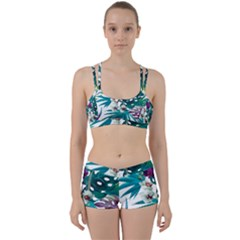 Tropical Flowers Perfect Fit Gym Set by goljakoff