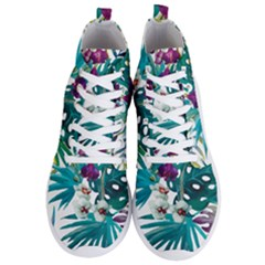 Tropical Flowers Men s Lightweight High Top Sneakers by goljakoff
