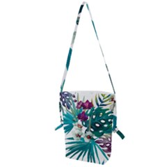 Tropical Flowers Folding Shoulder Bag by goljakoff