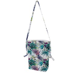 Tropical Flowers Pattern Folding Shoulder Bag by goljakoff