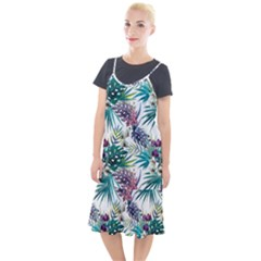 Tropical Flowers Pattern Camis Fishtail Dress by goljakoff