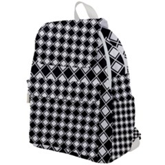 Black And White Diamonds Top Flap Backpack by retrotoomoderndesigns
