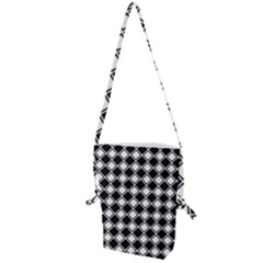 Black And White Diamonds Folding Shoulder Bag
