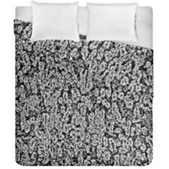 Black And White Abstract Duvet Cover Double Side (california King Size) by retrotoomoderndesigns