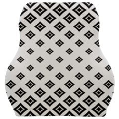 Black And White Tribal Car Seat Velour Cushion  by retrotoomoderndesigns