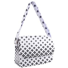 Black And White Tribal Courier Bag by retrotoomoderndesigns