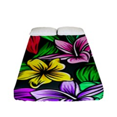 Neon Hibiscus Fitted Sheet (full/ Double Size)