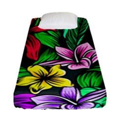 Neon Hibiscus Fitted Sheet (single Size)