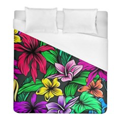 Neon Hibiscus Duvet Cover (full/ Double Size)