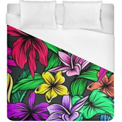 Neon Hibiscus Duvet Cover (king Size)