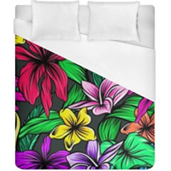Neon Hibiscus Duvet Cover (california King Size)