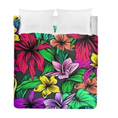 Neon Hibiscus Duvet Cover Double Side (full/ Double Size)