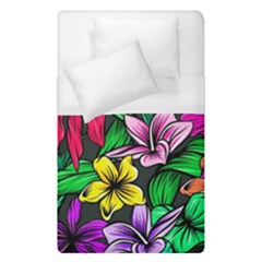 Neon Hibiscus Duvet Cover (single Size)