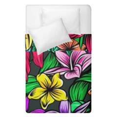 Neon Hibiscus Duvet Cover Double Side (single Size)