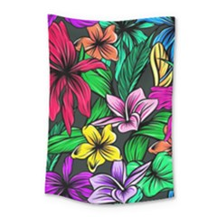 Neon Hibiscus Small Tapestry