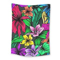 Neon Hibiscus Medium Tapestry