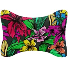 Neon Hibiscus Seat Head Rest Cushion
