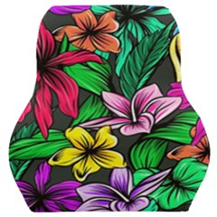 Neon Hibiscus Car Seat Back Cushion
