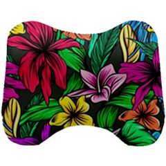 Neon Hibiscus Head Support Cushion