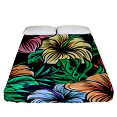 Hibiscus Dream Fitted Sheet (queen Size)