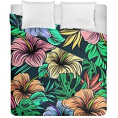 Hibiscus Dream Duvet Cover Double Side (california King Size)
