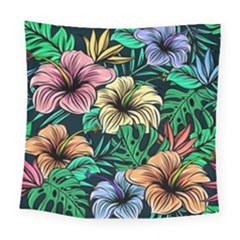 Hibiscus Dream Square Tapestry (large)