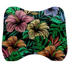 Hibiscus Dream Velour Head Support Cushion
