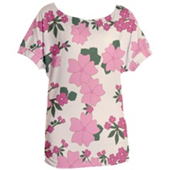Floral Vintage Flowers Wallpaper Women s Oversized Tee by Mariart