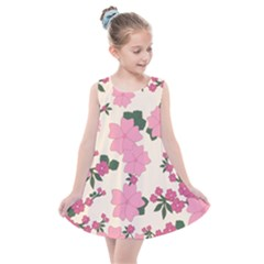 Floral Vintage Flowers Wallpaper Kids  Summer Dress by Mariart