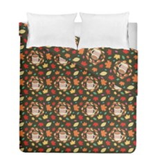 Tea Cup Leaf Leaves Duvet Cover Double Side (full/ Double Size)